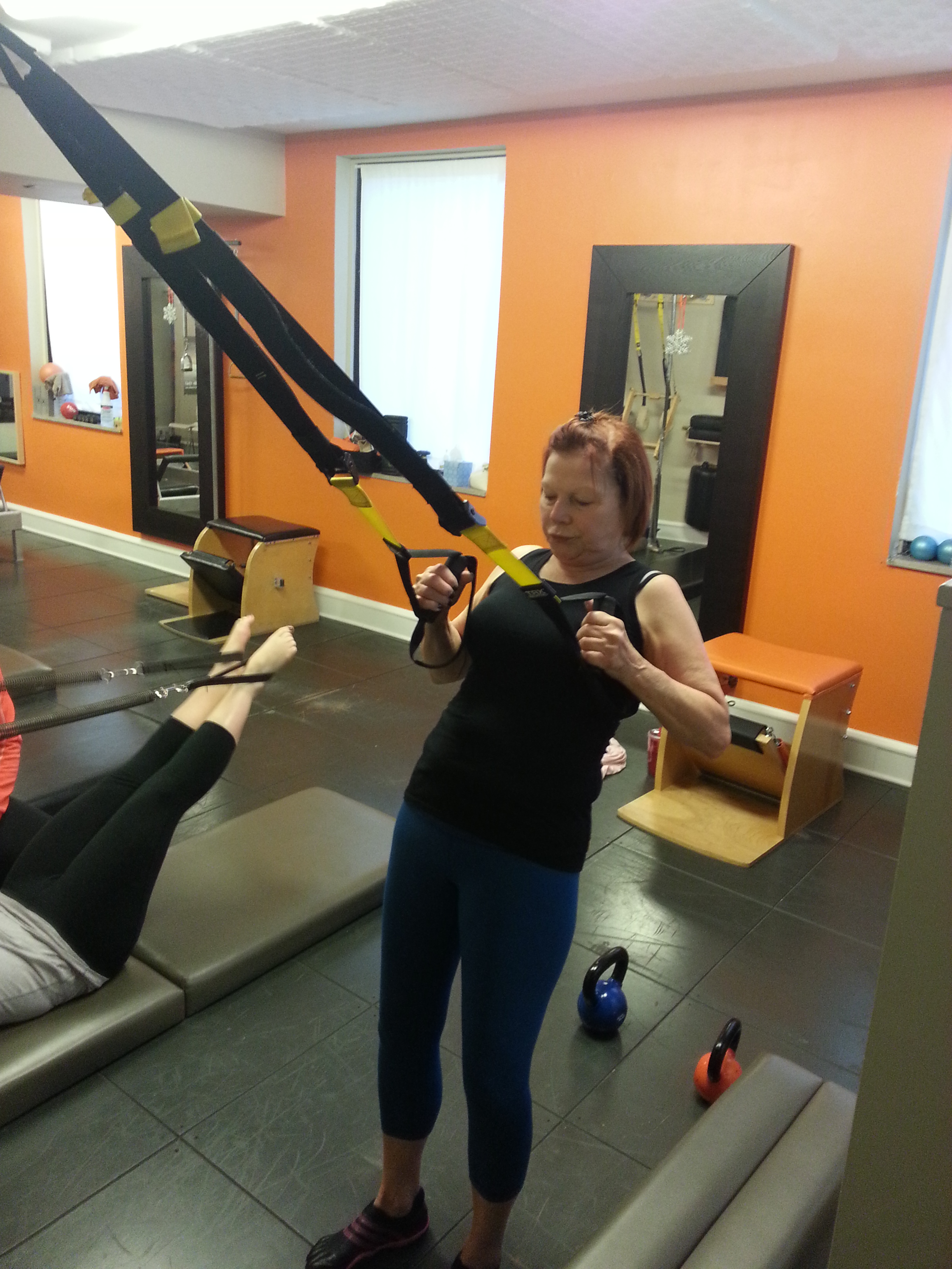 Janet Using the TRX